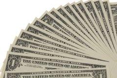 Fan delle note del dollaro Fotografia Stock Libera da Diritti