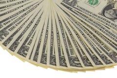 Fan delle note del dollaro Immagine Stock