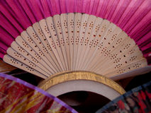 Fan-detail. A detail of a lower part of a Japanese fan Stock Photography