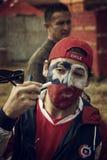 Fan di calcio del Cile alla coppa del Mondo 2014 della FIFA Fotografia Stock