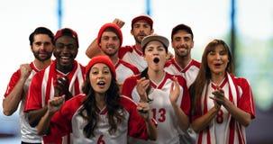 Fan di sport che incoraggiano fortemente 4k archivi video