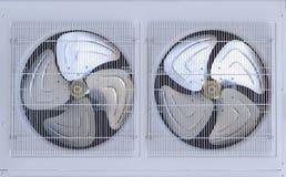 Fan di un compressore nel sistema di condizionamento d'aria Fotografia Stock