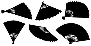 The fan in different positions. Stock Photo