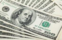 Fan of dollar banknotes Royalty Free Stock Photo