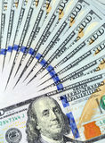Fan of 100 dollar bills Royalty Free Stock Image