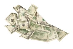 Fan of dollar bills Stock Image