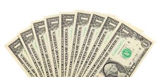 Fan of dollar bills Stock Images