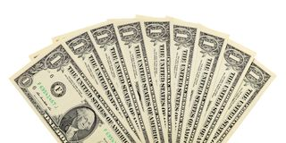 Fan of dollar bills Stock Photo