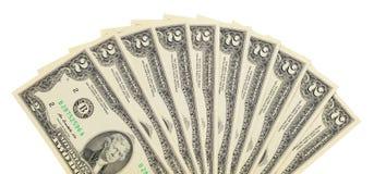 Fan of dollar bills Royalty Free Stock Image