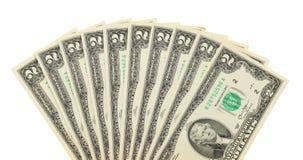 Fan of dollar bills Royalty Free Stock Photo
