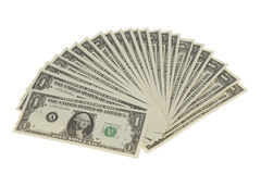 Fan of Dollar Notes Royalty Free Stock Photos