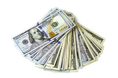 Fan dollars Royalty Free Stock Images