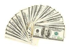 Fan of dollars Stock Image