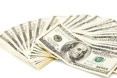 Fan of dollars Royalty Free Stock Images
