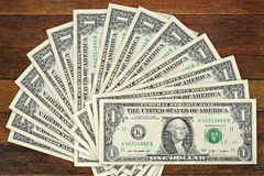 Fan, dollars Royalty Free Stock Photography