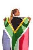 fan drapująca flaga Obrazy Stock