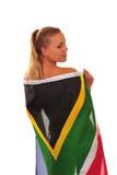 fan drapująca flaga Zdjęcia Royalty Free