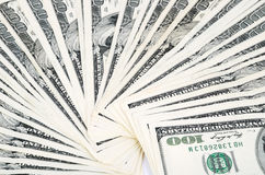Fan du plan rapproché 0950 de billets d'un dollar Photo stock