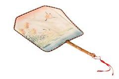 Fan en soie chinoise de main Image libre de droits