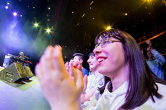 A fan enjoys with Amaia Montero (band) concert at Barts Stage Royalty Free Stock Images