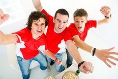 fan entuzjastyczny sport Fotografia Stock