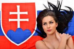 Fan eslovaca Fotografía de archivo libre de regalías