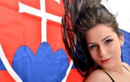 Fan eslovaca Fotos de archivo libres de regalías