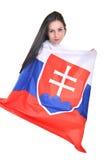 Fan eslovaca Foto de archivo libre de regalías
