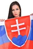 Fan eslovaca Fotografía de archivo