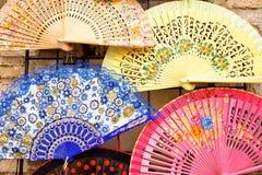 Fan española típica para atacar el calor Foto de archivo libre de regalías