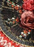 Fan et fleurs Photo libre de droits