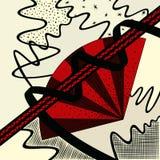 Fan et rubans rouges Image libre de droits