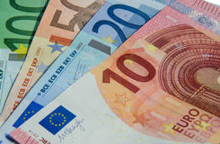 Fan of Euro bank notes Stock Images