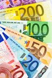 A fan of euro banknotes Stock Photos