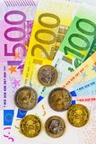 A fan of euro banknotes Stock Images
