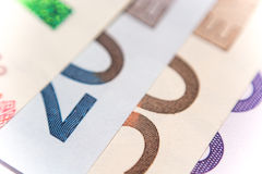Fan of euro banknotes, close up Royalty Free Stock Images