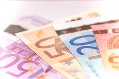 Fan of euro banknotes, close up Stock Photography