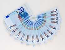 Fan of Euros Royalty Free Stock Image