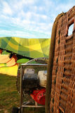 Fan filling a cold air balloon Stock Photography