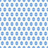 Fan Flowers Blue Seamless Texture. Seamless pattern background texture with blue radiating flowers greek style Royalty Free Stock Image