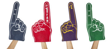 Fan Foam Fingers Royalty Free Stock Photo