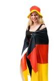 Fan footbal allemande Photographie stock libre de droits