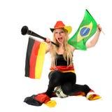 Fan footbal allemande Images libres de droits