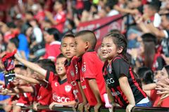 Fan of football Thailand  in Bangkok International Football Invi Royalty Free Stock Images