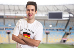 Fan in german jersey at stadium Royalty Free Stock Images