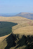Brecon Beacons, Wales. Fan Gyhirych in the Brecon Beacons Royalty Free Stock Photos