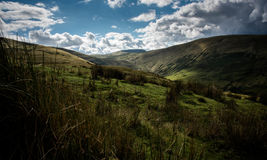 Fan Gyhirych. And the valley of the Afon Senni from the slopes of Fan Nedd Royalty Free Stock Image