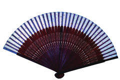 Fan. A hand made fan resembling Chinese or Buddhist hand fan Royalty Free Stock Photography