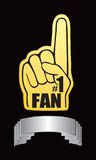 Fan hand on silver display Stock Photography
