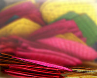 Fan handicraft color blur Royalty Free Stock Photography
